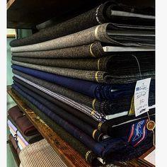 "thom__sweeney - ""  Prepping for winter. #Thomsweeney #bespoke #menswear #fabric #tailor  """