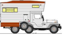 Jeep Camper - 1969 Camper Other Photos Old Jeep, Jeep Jeep, Warriors Standing, Motorhome Conversions, Vintage Jeep, Camper Hacks, Camper Caravan, Dream Garage, Rat Rods
