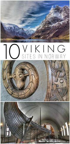 Viking sites in Norway pin