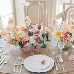 A ray of floral sunshine at @jardin_de_buis for #fluttermagissue10 Photo: @corbingurkin l Floral: @Nicolette Camille Floral l Tabletop: @Casa De Perrin l Calligraphy: @signoraemare l Candles: @Pinterest.candles #fluttermag #tablesetting #table