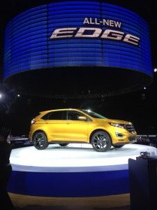 The newly redesigned Ford Edge sparkled as it was unveiled at the Further With Ford 2014 Trends Conference. Yay for bloggers for being the f...