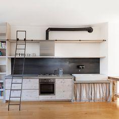 Idee cucina rustica del design industriale -  Katrin Arens - design cucina Milano 1