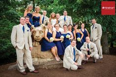 Roxy & Eric's Penn State wedding. Rhinehart Photography.