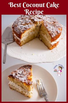 This is a simple coconut cake recipe made with desiccated coconut using only my one bowl method. You won't find an easy coconut cake like this one. Best Coconut Cake Recipe, Coconut Recipes, Baking Recipes, Cake Recipes, Dessert Recipes, Desserts Menu, Hazelnut Cake, Light Desserts, Savoury Cake