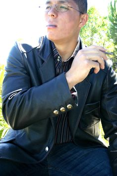 Made to order leather jackets from Leather Waves #mens fashion #mens leather jackets #custom leather #jackie robbins