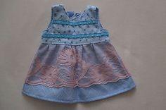 Puppenkleidung-Puppensachen-Babypuppe-36cm-Sommerkleid-Spitzenrock-Puppenbekleid