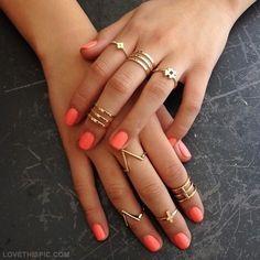 coral nails joyas de oro