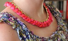 DIY Woven Chain Necklace - Henry Happened