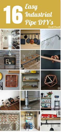 Use industrial pipe for these fabulous DIY's