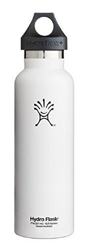 Hydro Flask insulated water bottle (21 oz. Arctic White)…