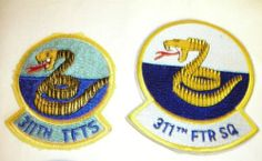 USAF Patches from 311th Fighter Squadron Tac Fighter Training Sq | eBay
