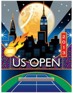 2013 US Open Poster #tennis