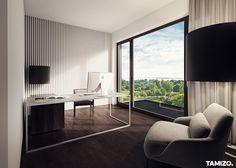 I063_tamizo_architekci_projektowanie-wnetrz-mieszkanie-krakow-miedz-22 Private Room, Joinery, Shelving, Curtains, Bedroom, Furniture, Home Decor, Offices, Books