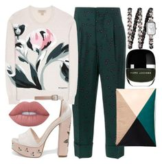 """Ringing in the Green"" by fashionforwarded ❤ liked on Polyvore featuring Marni, Burberry, Chanel, Chinese Laundry, Marc Jacobs, Sole Society, Lime Crime and nailedit"