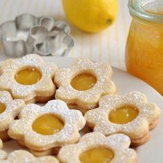 Zandkoekjes - Lemon curd Dille & Kamille