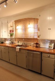 Ideas for updating your counters on a Budget! I am SUPER pumped to find this! Besides a few details, this IS my kitchen! I can totally make it look like that!