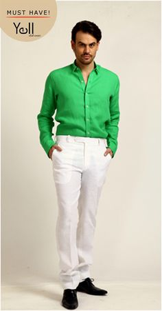 This Diwali flaunt the Yell White trousers - the most auspicious colour of them all. And highlight it with quirky coloured shirts from Yell.