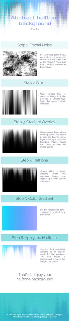 Abstract Halftone Background How To