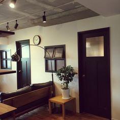 kan2さんの、リビング,観葉植物,ドア,カフェ風,こども部屋,男前,配管むき出し,のお部屋写真