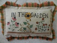 Hey, I found this really awesome Etsy listing at https://www.etsy.com/listing/238101259/primitive-in-the-garden-fall-pillow-sign