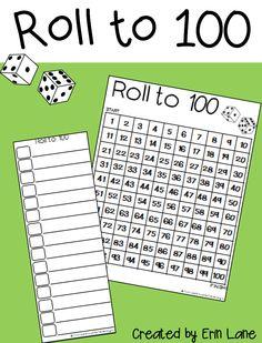 FREE 100 chart games, printable, and a bonus 120 chart!
