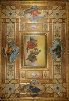 Giacomo Casa (1827-1887) Sala del Senato - The hall of the seasons where Venice biennale was born | Caffè Florian a Venezia San Marco