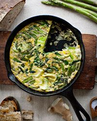 Asparagus and Bok-Choy Frittata (via food) - making this with my farmers market produce and farm fresh eggs!