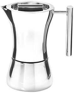 The elegant Nambe Karoma Espresso Pot creates rich, dark, delicious coffee right on the stove top. Made of high-quality stainless steel. Italian Espresso, Italian Coffee, Espresso Maker, Espresso Cups, Pod Coffee Makers, Amazon Coffee, Cappuccino Machine, Coffee Service, Coffee Accessories