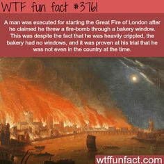 The great fire of London - WTF fun facts