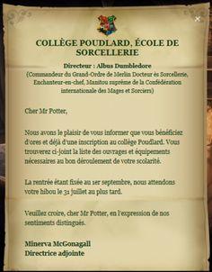 Lettre d'admission à Poudlard | Wiki Harry Potter | Fandom powered by Wikia