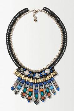 Bejewelled Spray Necklace | Anthropologie
