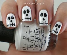I am so excited to today to finally start! Today marks day one of 8 Spooky Nights, our celebration leading up to Halloween next Wed. Opi, Nail Lacquer, Nail Polish, Day For Night, Art Challenge, Mani Pedi, Halloween Nails, Nail Tips, Peace And Love
