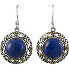 Lapis and Sterling Silver Openwork Earrings. https://www.pinterest.com/rubylanecom/vintage-jewelry-25-or-less/