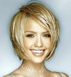 Layered bob. I look nothing like Jessica Alba but we share the same face shape. Always like to check out her hair styles and sometimes mimic the ones I like.