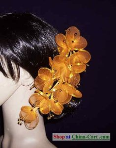 Thailand Yellow/Gold Hair Decoration Flower for Women