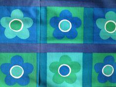 Colorful 60s retro floral vintage fabric. Scandinavian design, made in Sweden.. kr110.00, via Etsy.