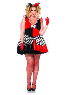 Leg Avenue Women's Plus-Size 2 Piece Court Jester $59.94  [Maybe for Harley, with some mods]