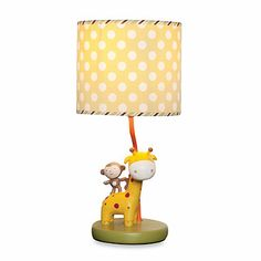 Brighten up your nursery with this delightful kidsline™ Safari Party Lamp & Shade that coordinates with the kidsline Safari Party Crib Bedding Collection. It features a hand-painted resin base with a cute monkey sitting atop his giraffe friend. Baby Nursery Furniture, Nursery Room Decor, Night Light, Light Up, Giraffe Nursery, Safari Party, Baby Room, Car Seats, Table Lamp