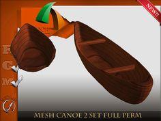 Canoe 2 set Mesh  Full perm