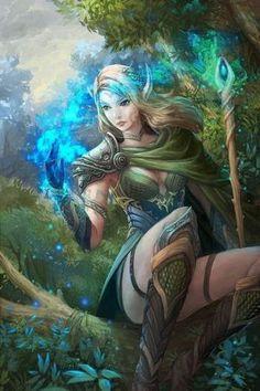 Mylaerla - Wood Elf Druid by scvjsh82