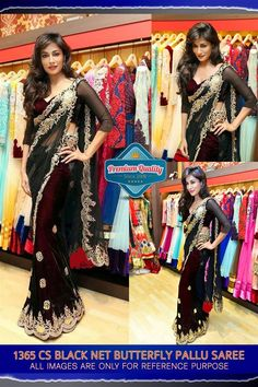 Chitrangada Singh Black Color Net Saree