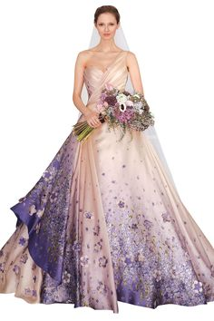 Wedding dress by Romona Keveza Collection.