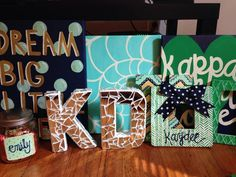 Kappa Delta Crafts, the frame is so cute!
