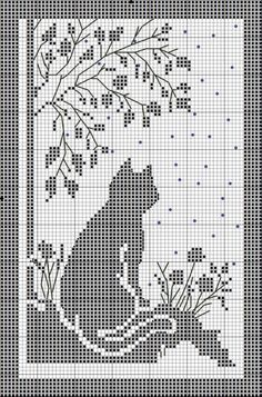 Znalezione obrazy dla zapytania crochet firana with cat