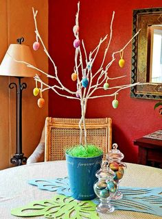 dollar-store-Easter-tree
