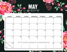 Snag a free printable May 2020 calendar to use today. May Calendar Printable, Mom Calendar, 2019 Calendar, Cool Calendars, Rejoice Always, Budget Template, Letter Size Paper, Happy Summer, Life Planner