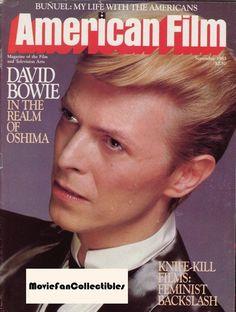 American Film Magazine 1983 David Bowie Slasher Movies Glamour Photos