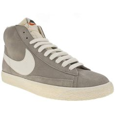 Women's Light Grey Nike Nike Blazer Mid Suede Vintage at Schuh. The Vintage Nike Blazer is an effortlessly cool re issue of the original 1973 basketball trainer. A perfect suede upper set on a textured vintage vulcanised sole with a foam tongue and mesh padded collar. Retro style with modern comfort.