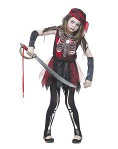 Zombie Pirate Girl Costume
