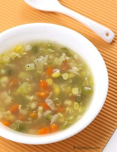 Vegetable Soup Mixed Vegetable Soup Recipe (Vegetarian) - Healthy Soup for Dinner in Minutes - Easy Recipe Healthy Vegetable Recipes, Healthy Vegetables, Vegetarian Recipes, Cooking Recipes, Healthy Soups, Vegetarian Soup, Healthy Chicken, Cooking Ideas, Crockpot Recipes